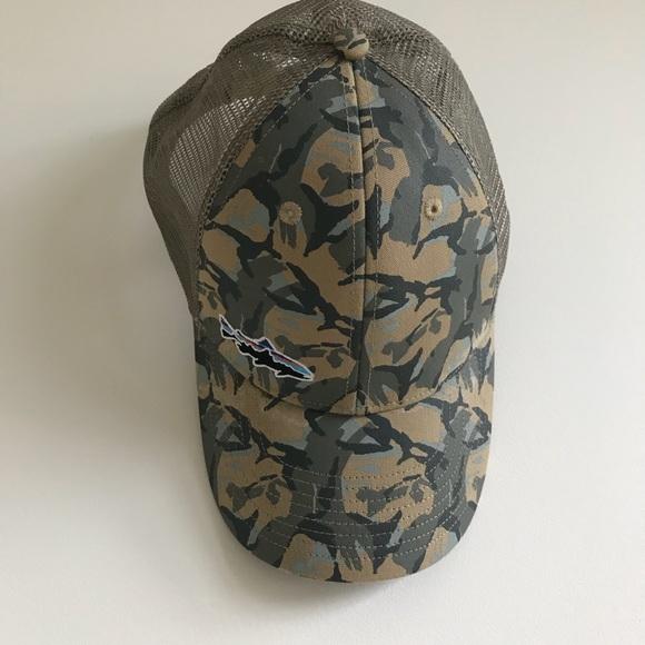 d02aec5f Patagonia Camo Fly Fishing trucker hat. M_5b6b856204ef5005d00e61ac
